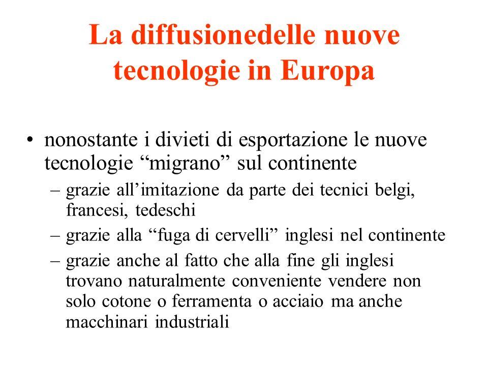 La diffusionedelle nuove tecnologie in Europa