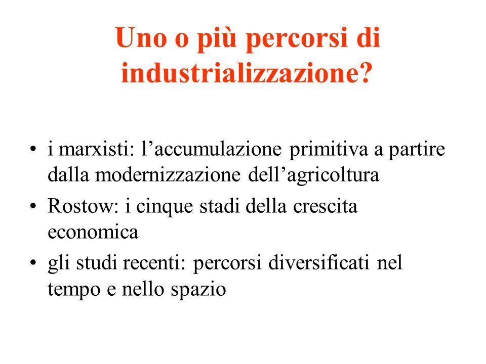 Uno o più percorsi di industrializzazione