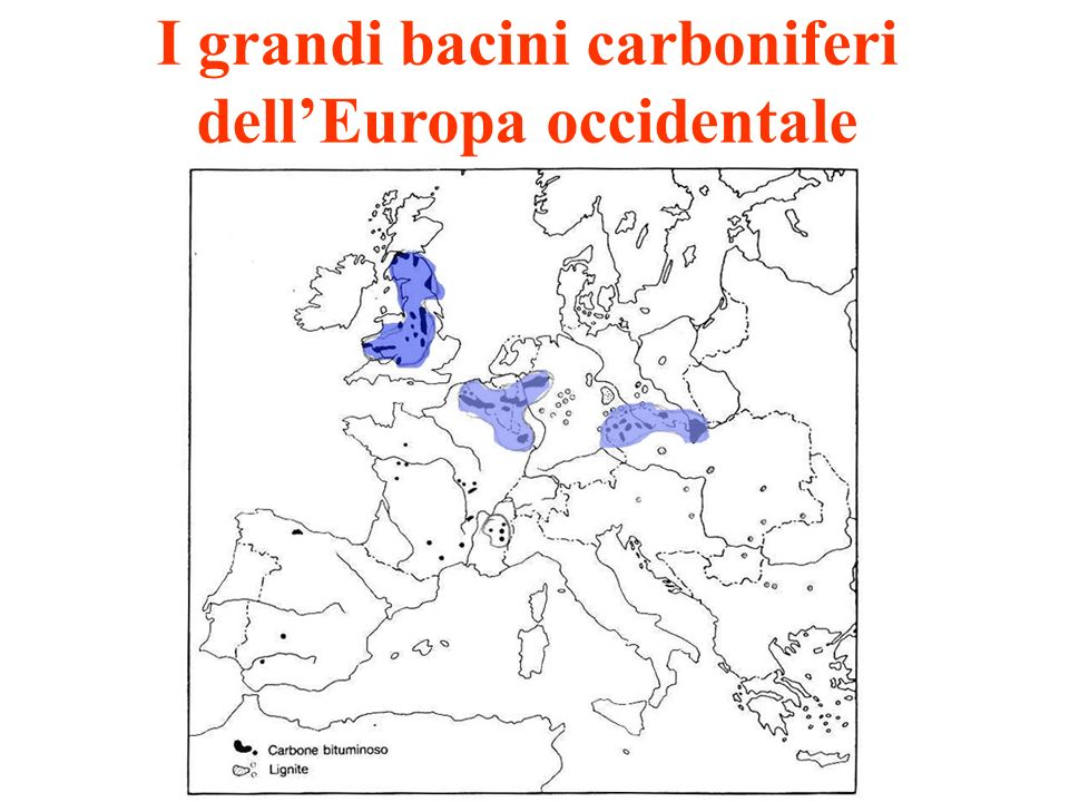 I grandi bacini carboniferi dell'Europa occidentale