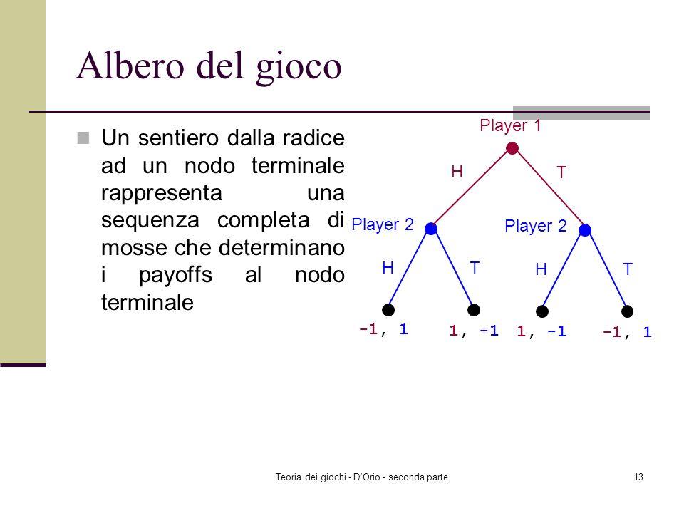 Teoria dei giochi - D Orio - seconda parte