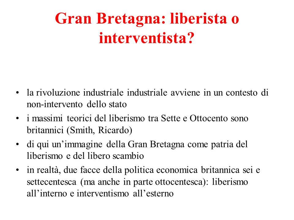 Gran Bretagna: liberista o interventista
