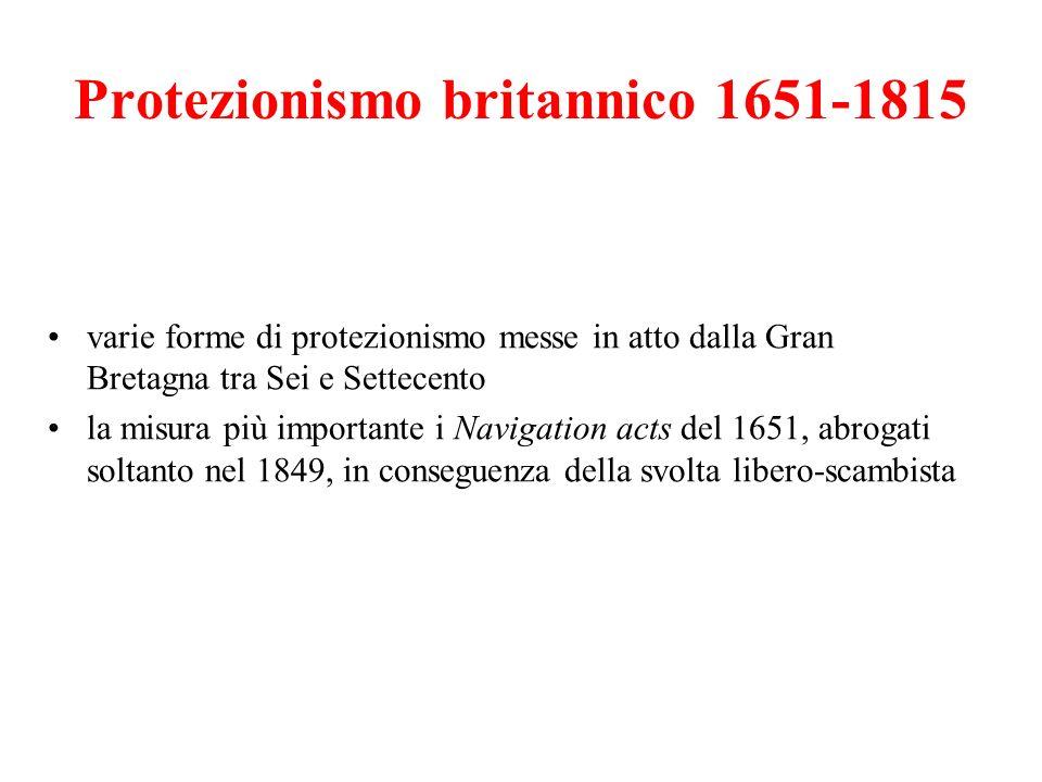 Protezionismo britannico 1651-1815
