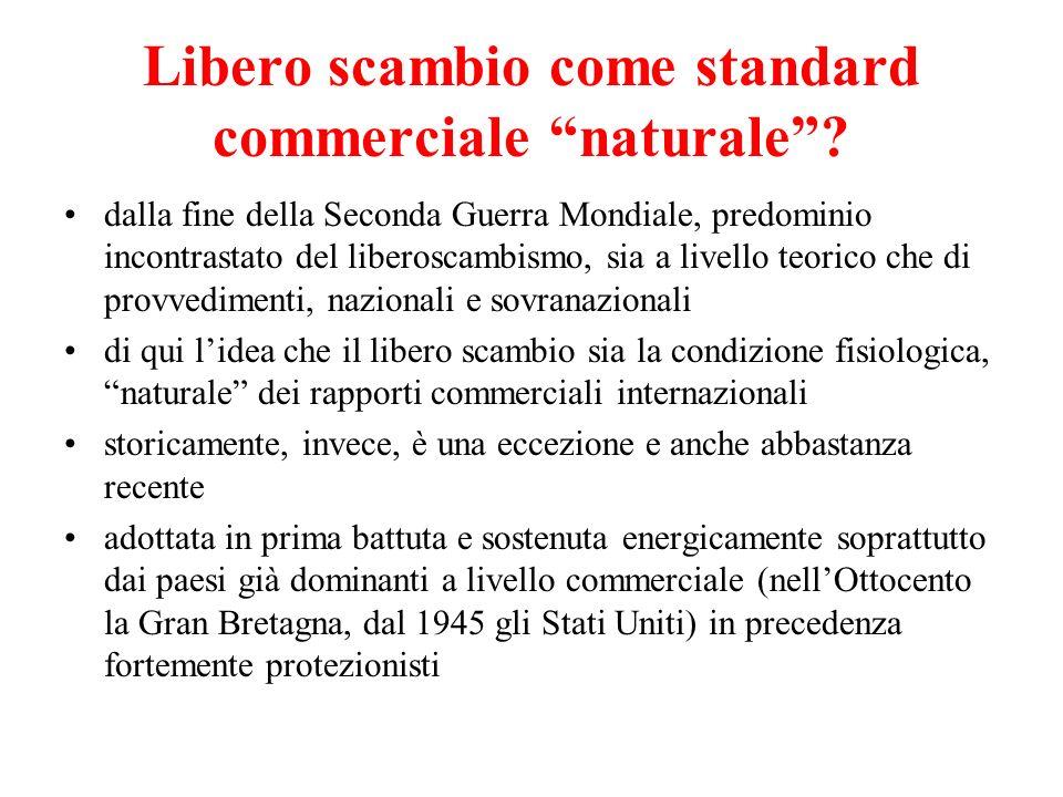 Libero scambio come standard commerciale naturale