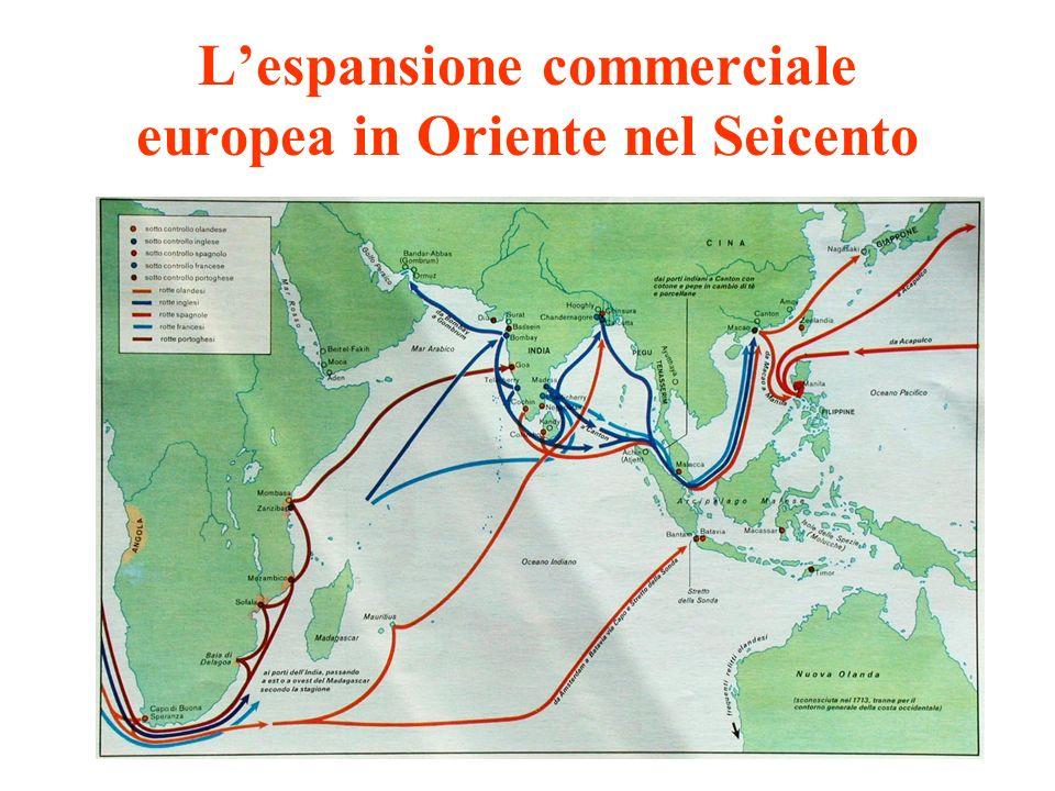 L'espansione commerciale europea in Oriente nel Seicento