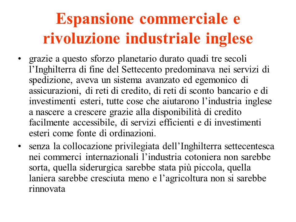 Espansione commerciale e rivoluzione industriale inglese