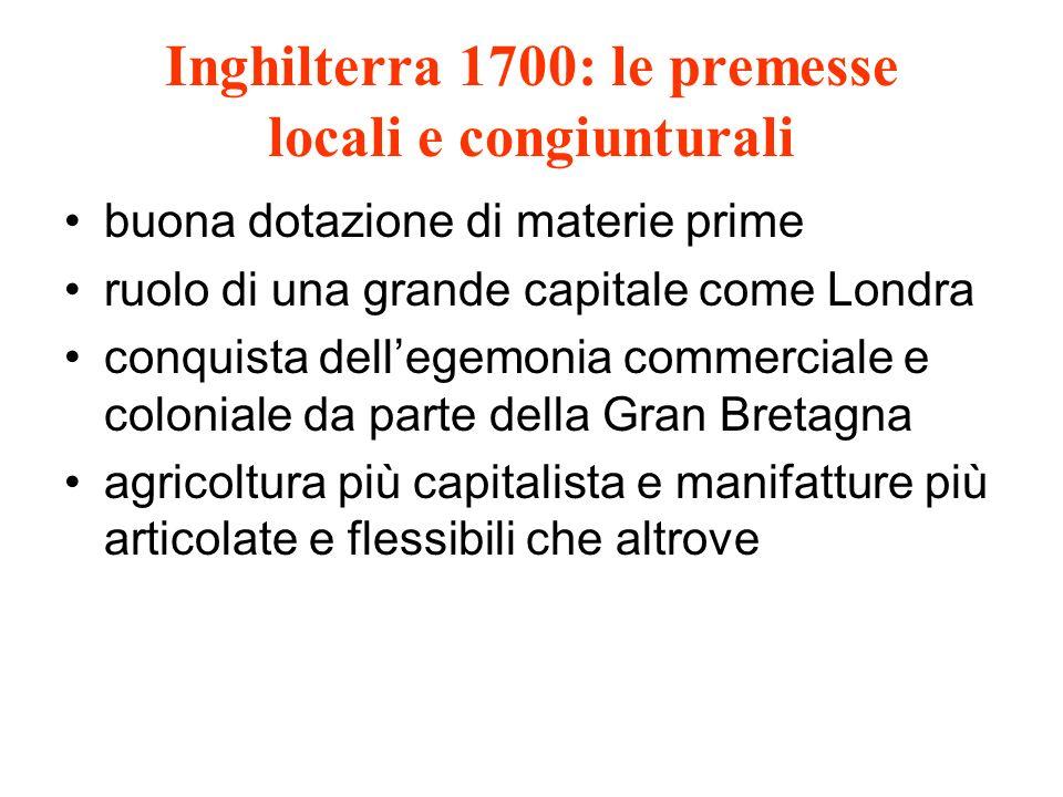 Inghilterra 1700: le premesse locali e congiunturali