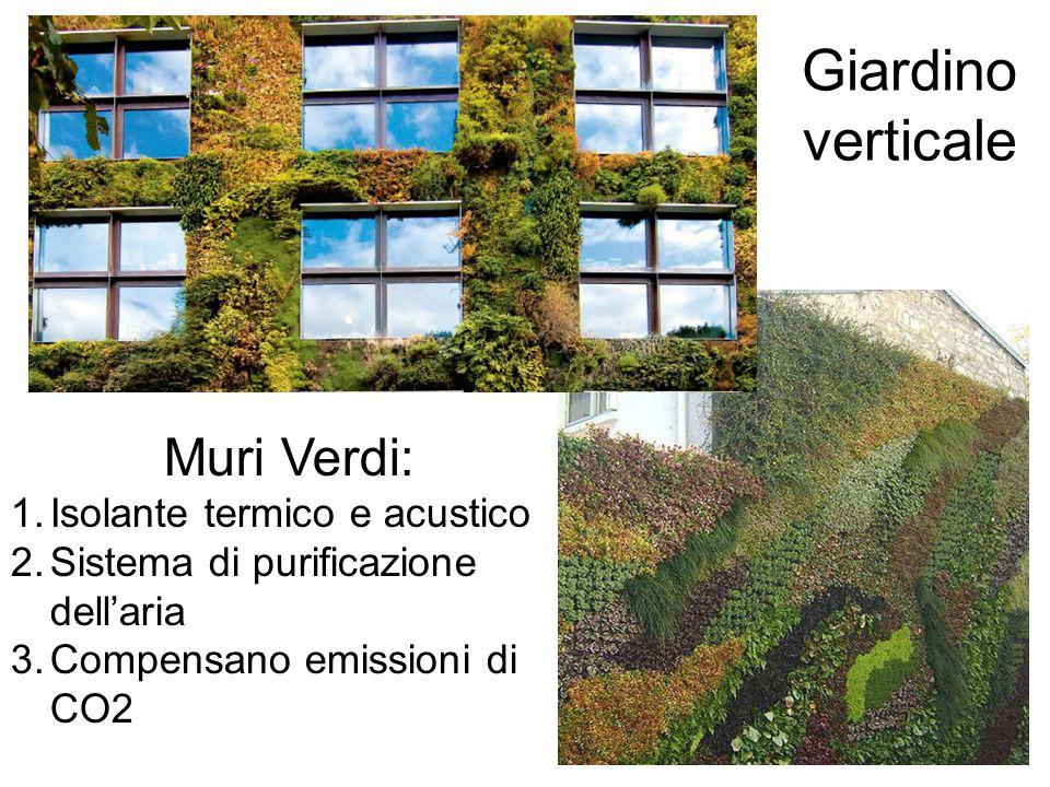 Giardino verticale Muri Verdi: Isolante termico e acustico