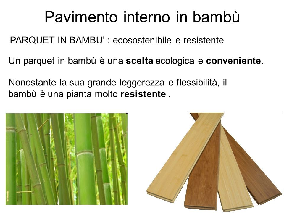 Pavimento interno in bambù