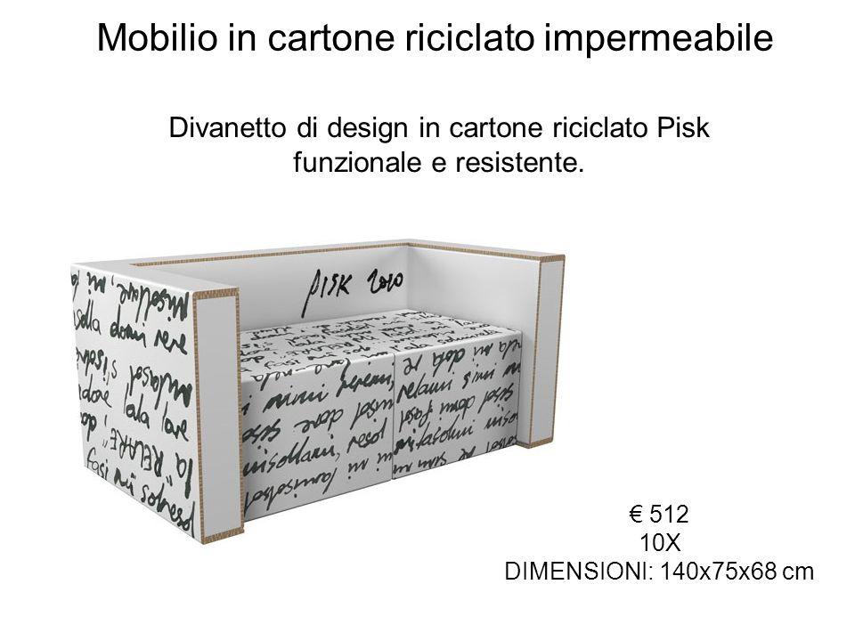 Mobilio in cartone riciclato impermeabile
