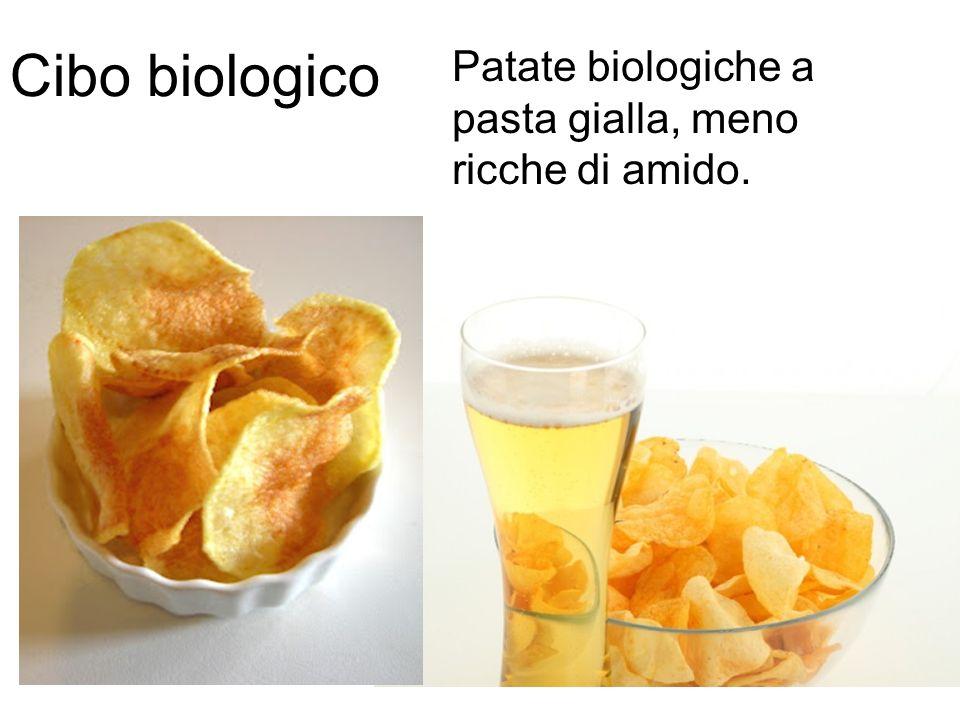 Cibo biologico Patate biologiche a pasta gialla, meno ricche di amido.