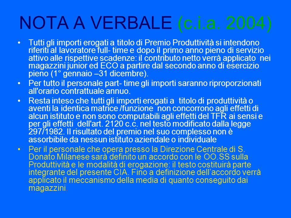 NOTA A VERBALE (c.i.a. 2004)