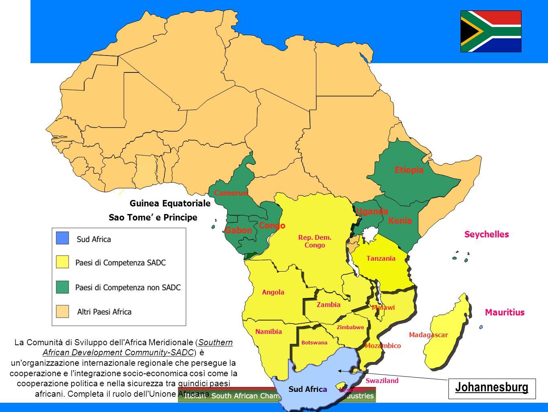 Johannesburg Etiopia Guinea Equatoriale Uganda Sao Tome' e Principe