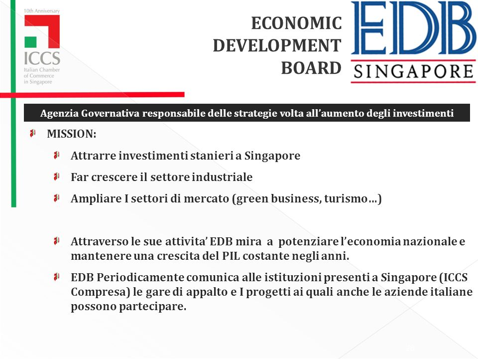 ECONOMIC DEVELOPMENT BOARD MISSION: