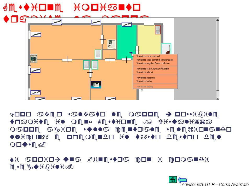 Gestione impianto tramite la mappa
