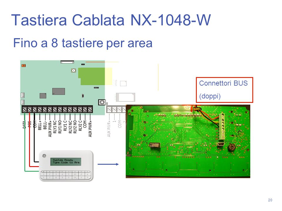 Tastiera Cablata NX-1048-W