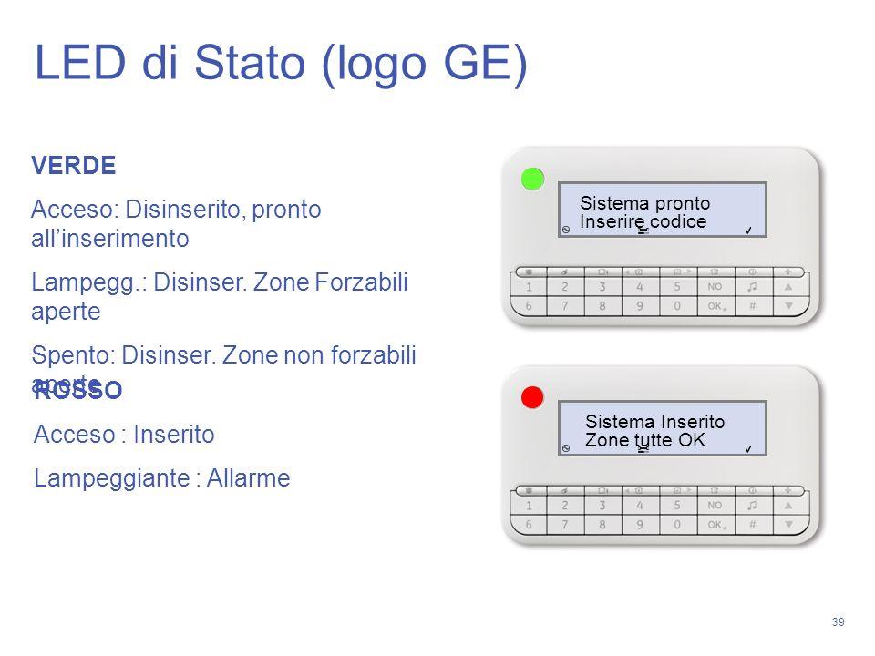 LED di Stato (logo GE) VERDE