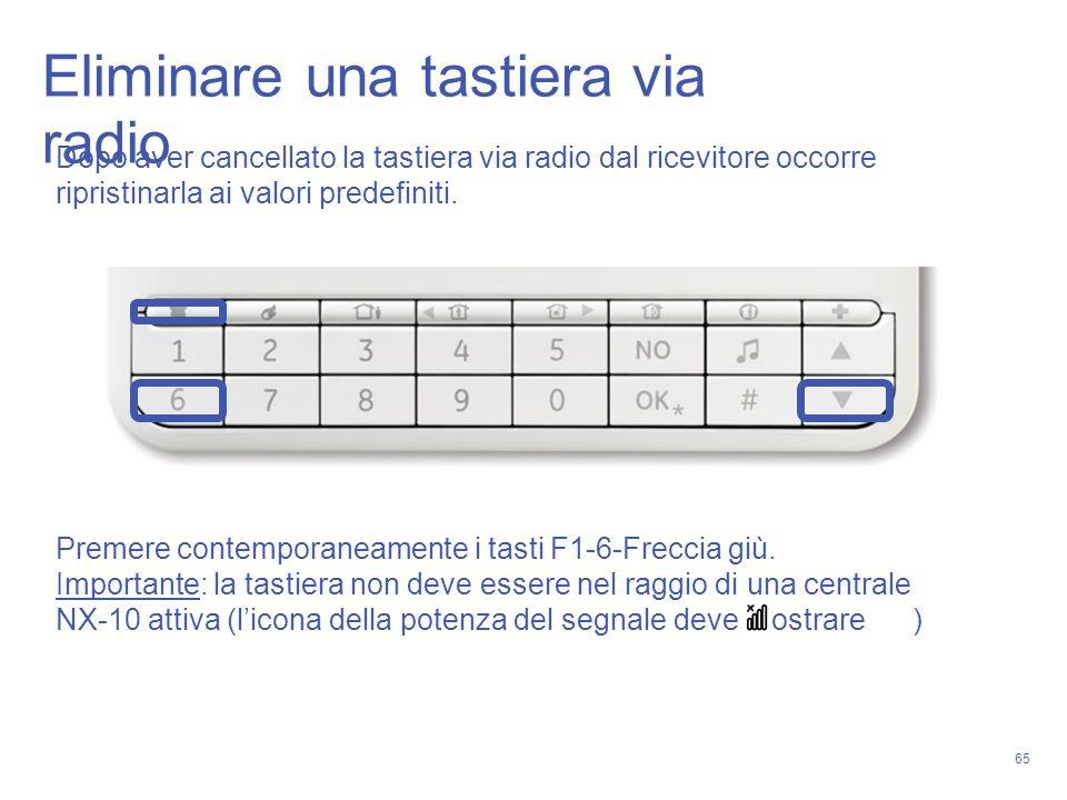 Eliminare una tastiera via radio