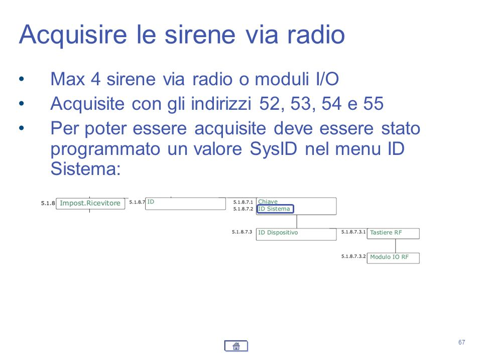 Acquisire le sirene via radio