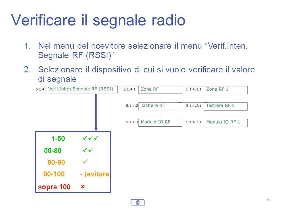 Verificare il segnale radio
