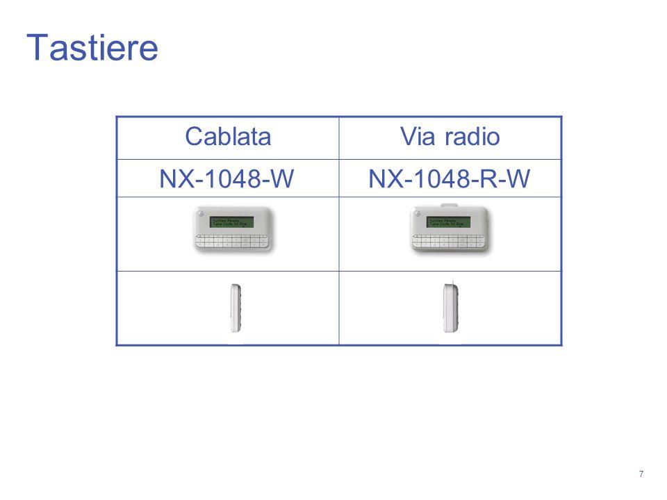 Tastiere Cablata Via radio NX-1048-W NX-1048-R-W