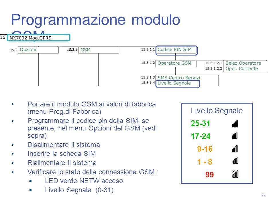 Programmazione modulo GSM