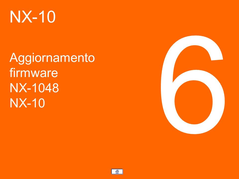 Aggiornamento firmware NX-1048 NX-10