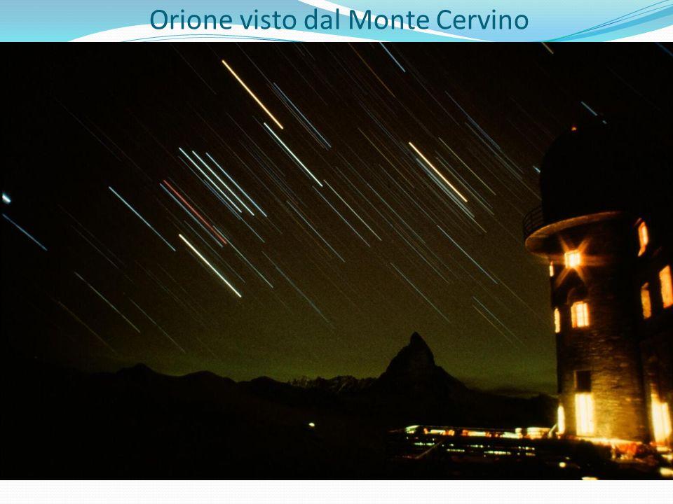 Orione visto dal Monte Cervino