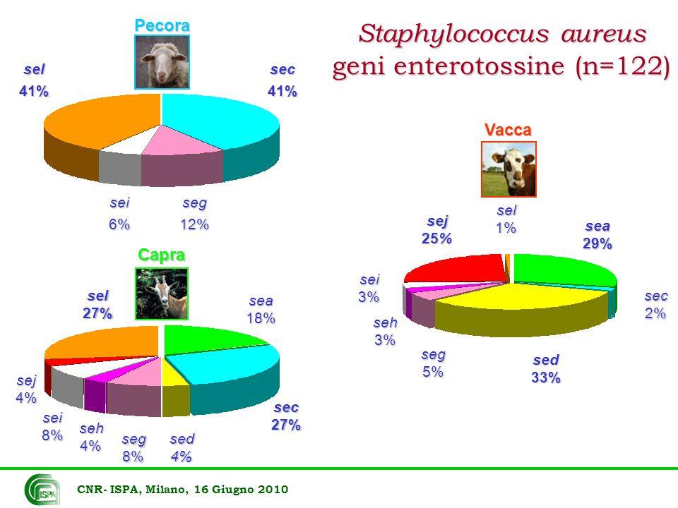Staphylococcus aureus geni enterotossine (n=122)