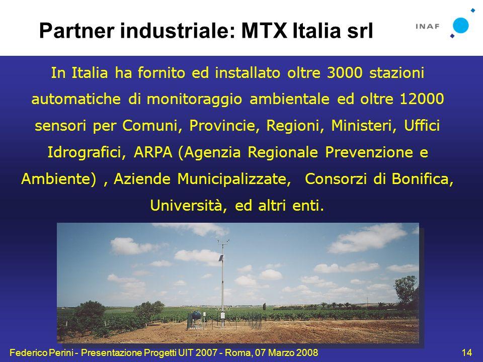 Partner industriale: MTX Italia srl