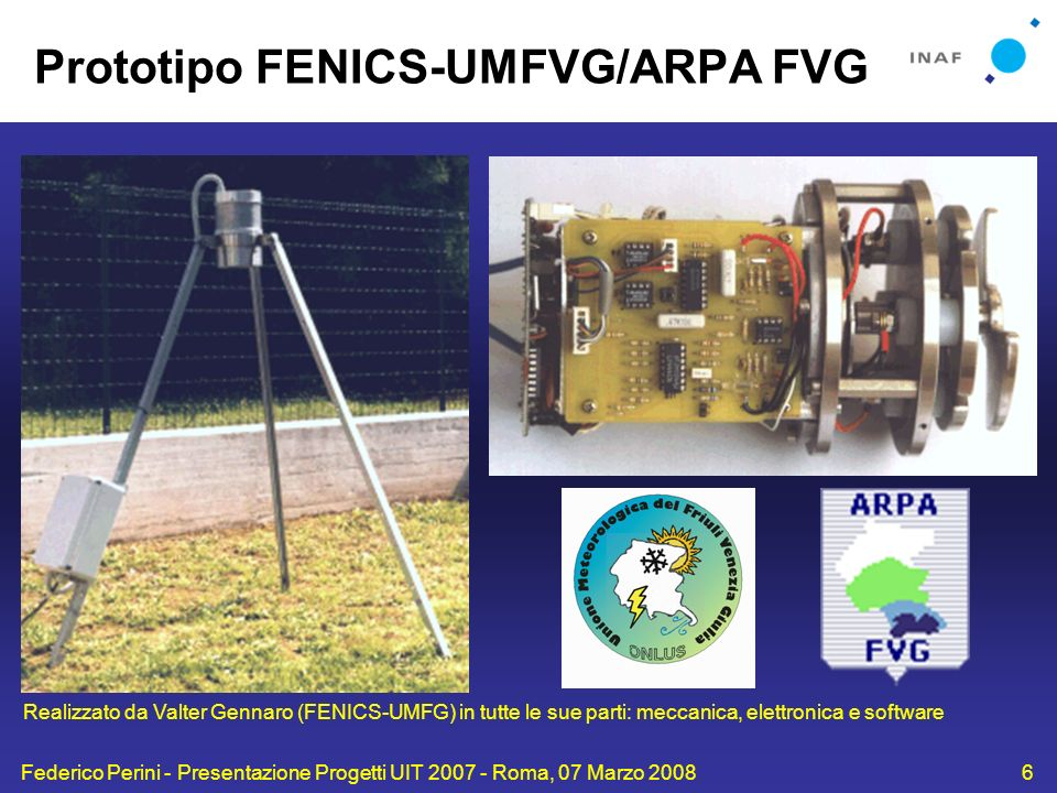 Prototipo FENICS-UMFVG/ARPA FVG