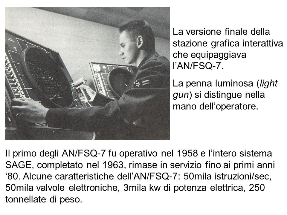 La versione finale della stazione grafica interattiva che equipaggiava l'AN/FSQ-7.