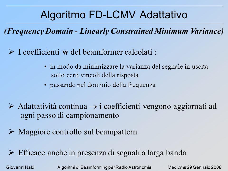 Algoritmo FD-LCMV Adattativo