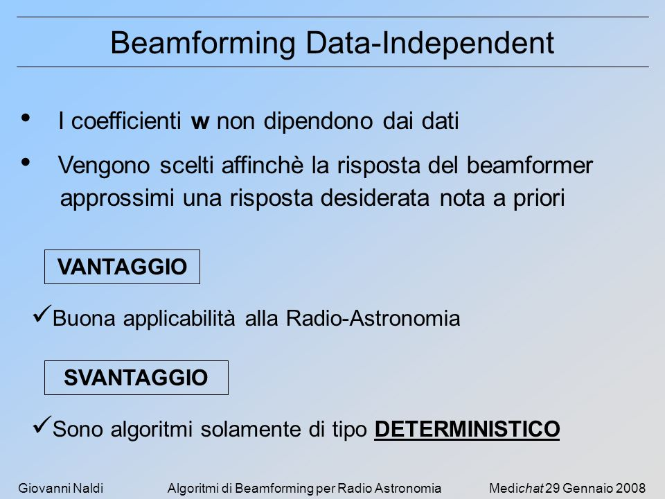 Beamforming Data-Independent