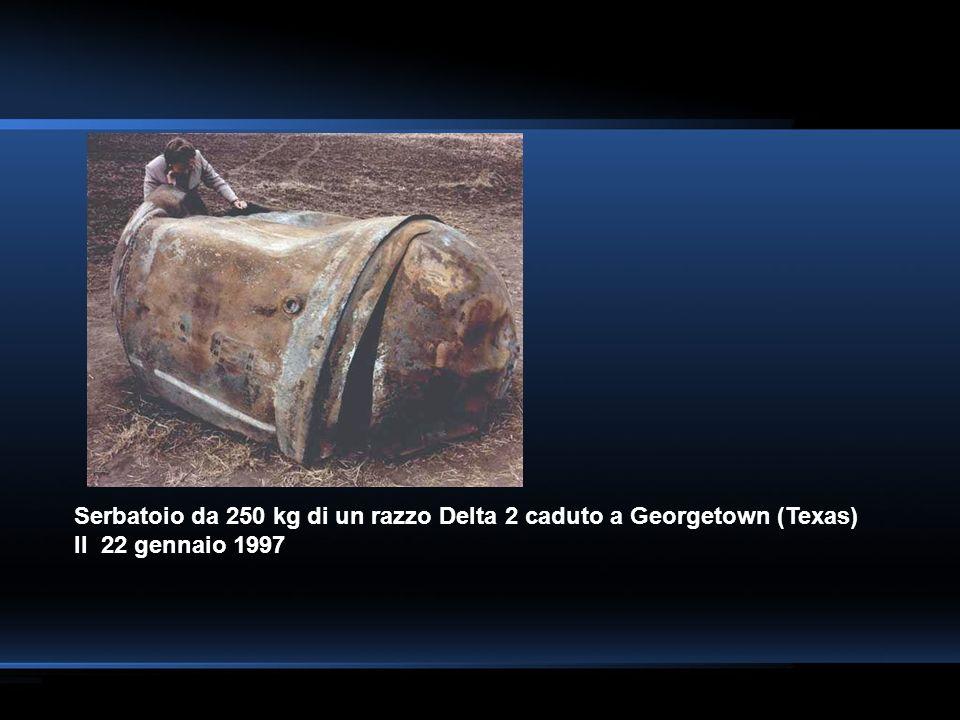 Serbatoio da 250 kg di un razzo Delta 2 caduto a Georgetown (Texas)