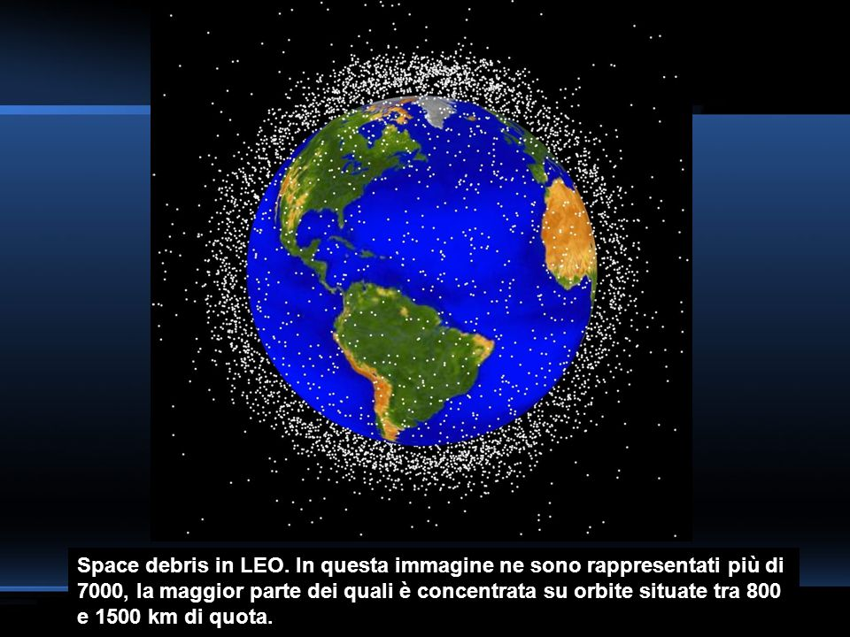 Space debris in LEO.