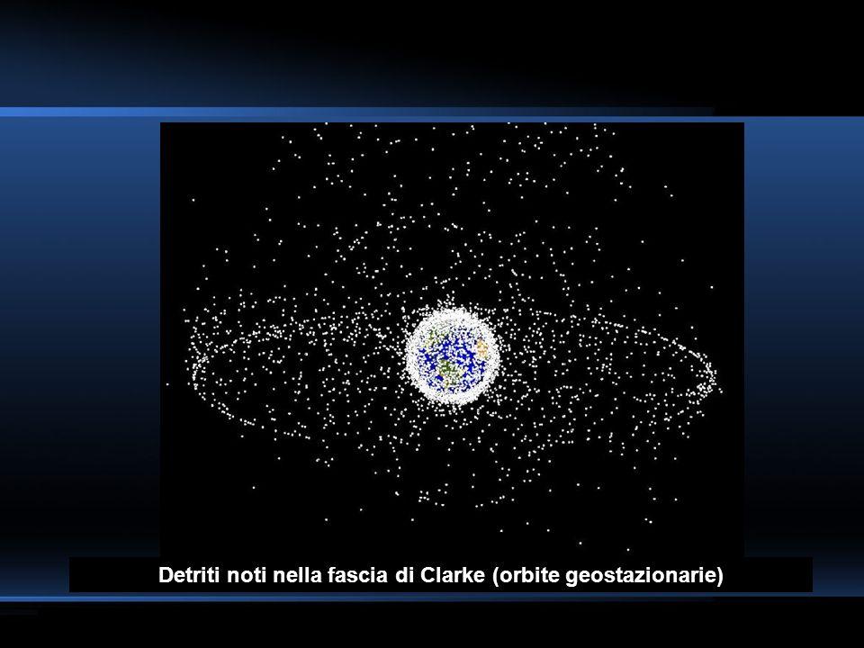 Detriti noti nella fascia di Clarke (orbite geostazionarie)