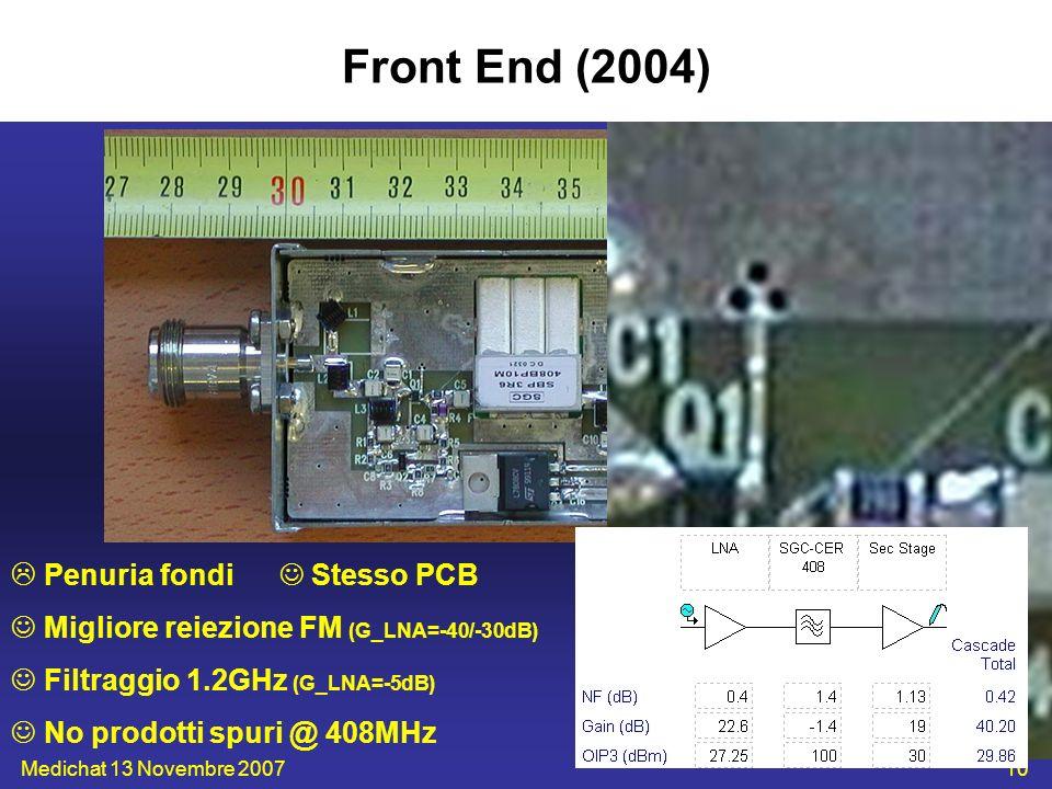 Front End (2004)  Penuria fondi  Stesso PCB