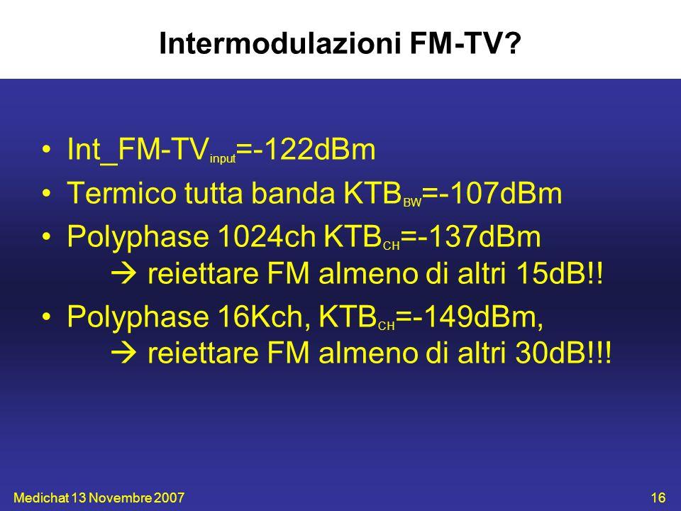 Intermodulazioni FM-TV