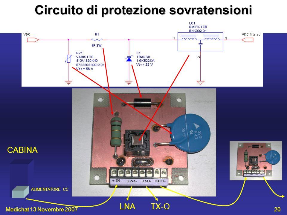 Circuito di protezione sovratensioni