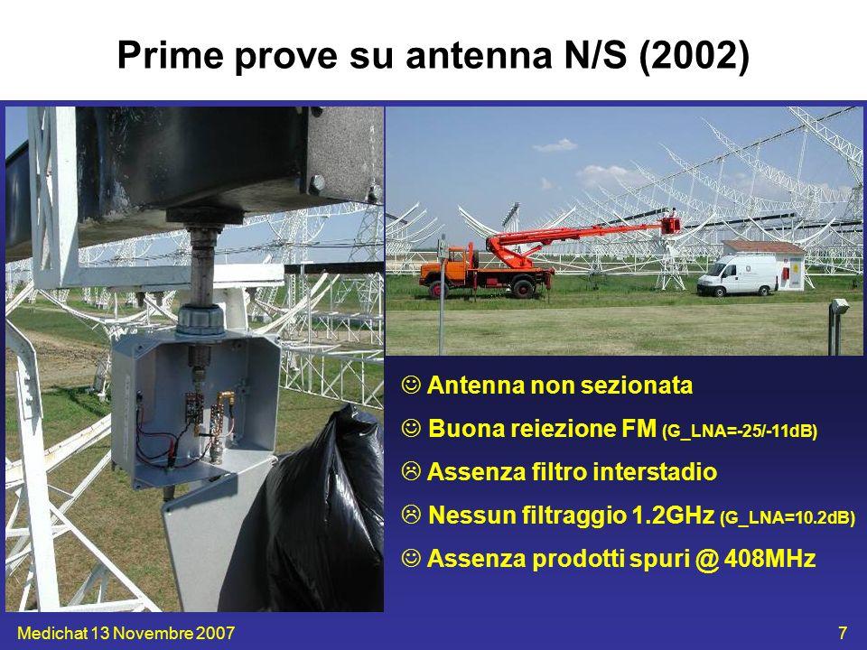 Prime prove su antenna N/S (2002)