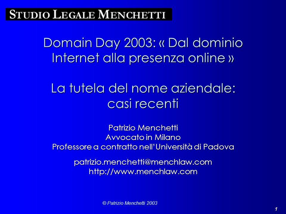 patrizio.menchetti@menchlaw.com http://www.menchlaw.com