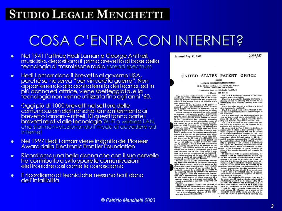 COSA C'ENTRA CON INTERNET