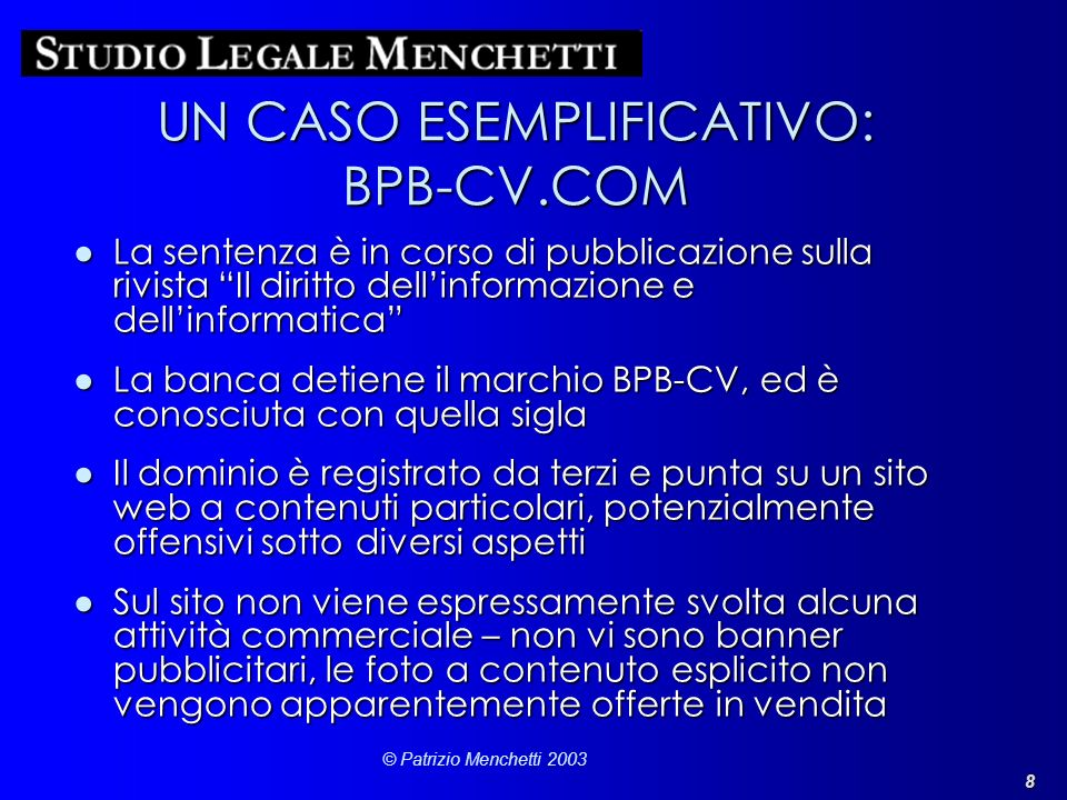 UN CASO ESEMPLIFICATIVO: BPB-CV.COM