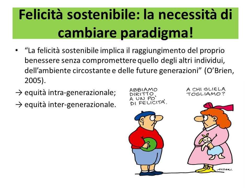 Felicità sostenibile: la necessità di cambiare paradigma!