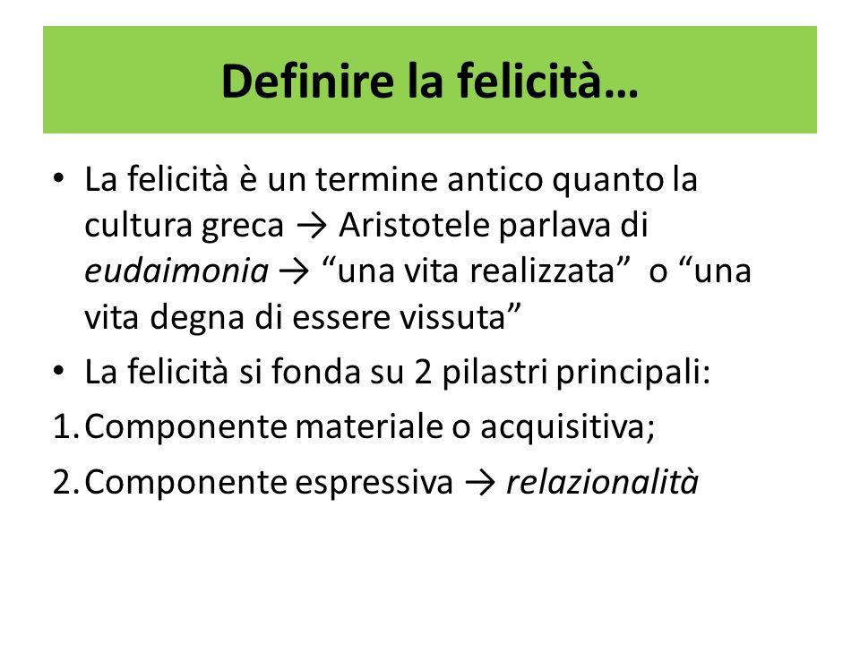 Definire la felicità…