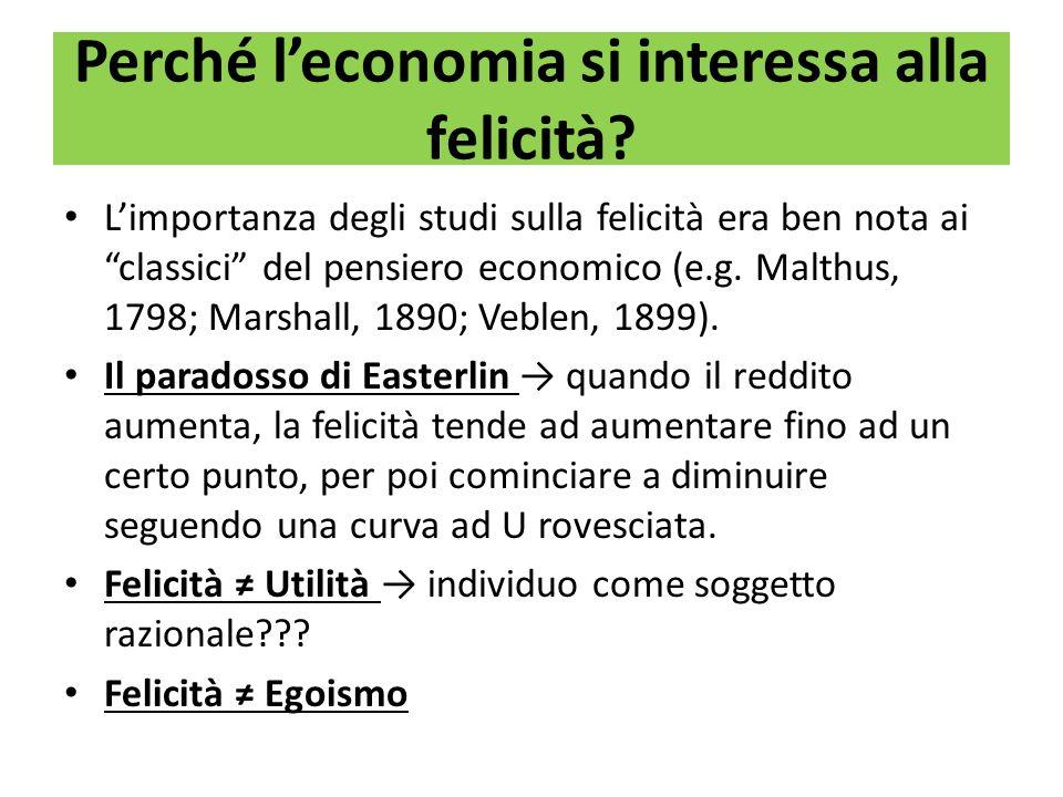 Perché l'economia si interessa alla felicità