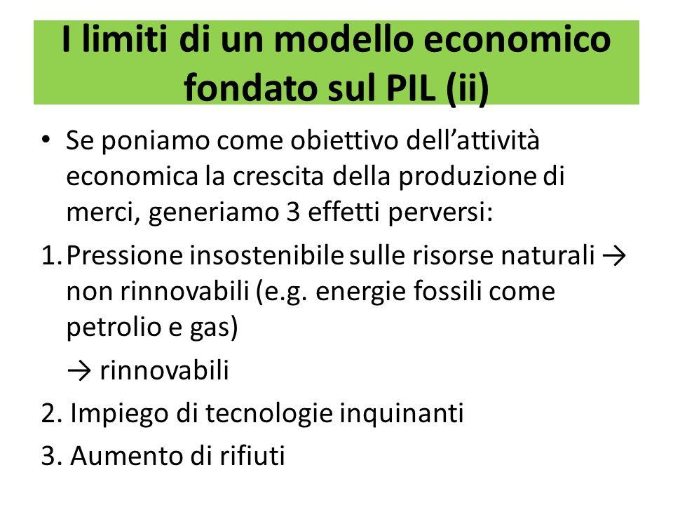 I limiti di un modello economico fondato sul PIL (ii)