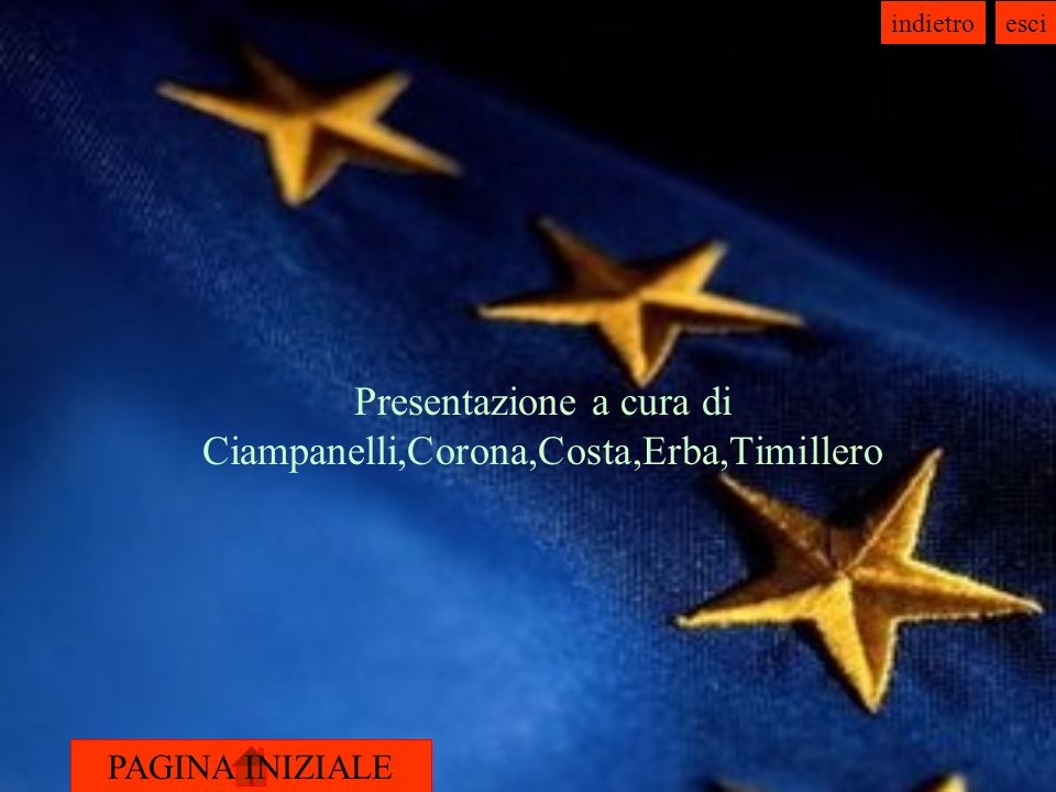 Presentazione a cura di Ciampanelli,Corona,Costa,Erba,Timillero