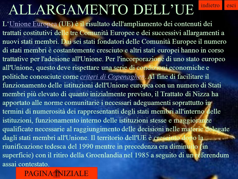 ALLARGAMENTO DELL'UE
