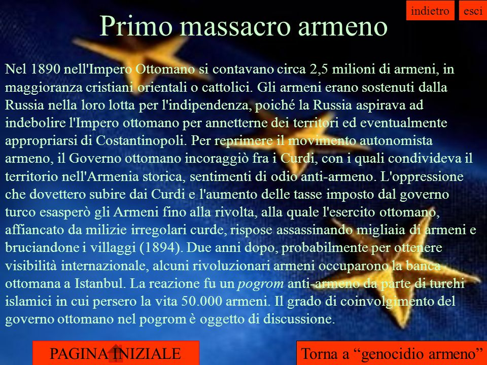 Torna a genocidio armeno